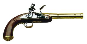 Queen Anne Brass Muzzleloading Flint lock Pistol, 50 Caliber Md: S.329-050